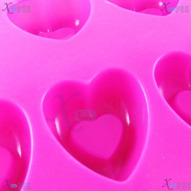 dgmj00024 DIY Pink Kitchen 10 Hearts Shape Silicone Bakeware Baking Mold Jelly Cake PAN 3