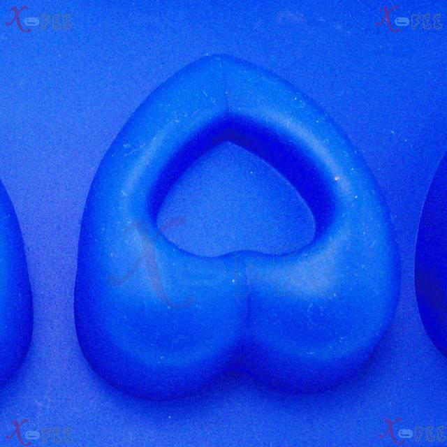 dgmj00025 DIY Blue Kitchen 10 Hearts Shape Silicone Bakeware Baking Mold Jelly Cake PAN 3