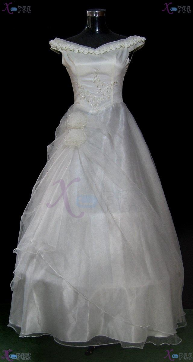 hsw00003 Formal Wedding Dress Rose Flower All Sizes Custom-made 1