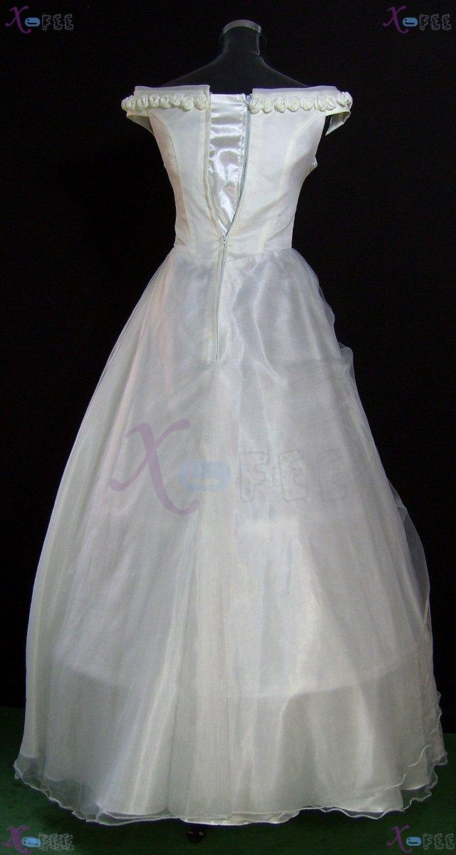 hsw00003 Formal Wedding Dress Rose Flower All Sizes Custom-made 3