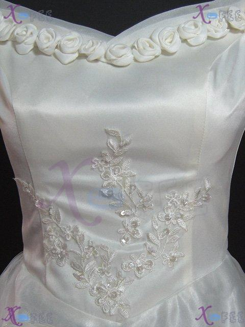 hsw00003 Formal Wedding Dress Rose Flower All Sizes Custom-made 4