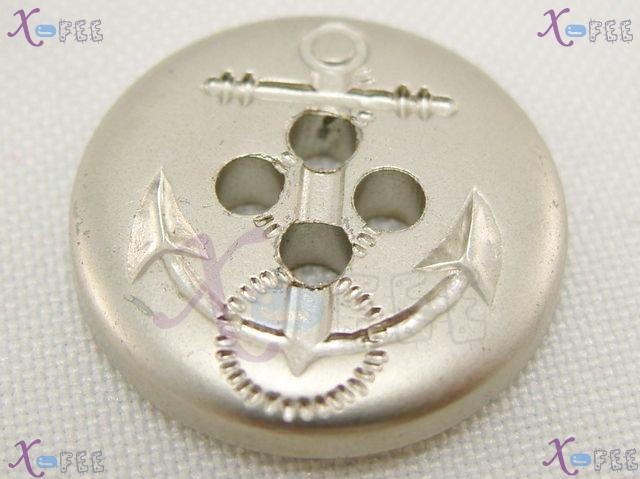 nkpf01356 New Wholesale Lot 5pcs Collectibles Craft Sewing 40L Silver Color Anchor Buttons 1