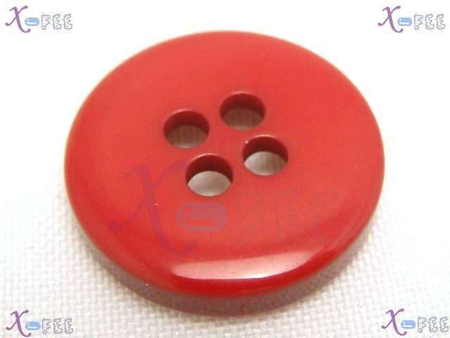 nkpf01352 NEW Wholesale Lots 5pcs Collectibles Craft Sewing 36L Red Plastic Resin Buttons 2